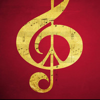 Art Print Music Peace Notes Treble Clef Free by Inspireuart