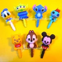 Licensed Japan Disney Earphone Jack Dust proof/Cap Plug Stopper Smart / i  phone