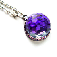RARE Purple Vintage Swarovski Crystal Ball by BreatheCouture