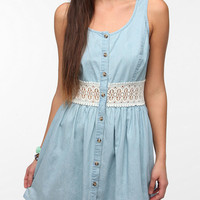 Pins And Needles Crochet-Waist Chambray Dress