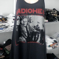 RADIOHEAD rock band  women  tank top mini dress   t shirt  One Size Free Size
