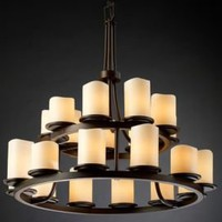 One Kings Lane - Lighting Essentials - Carolina 21-Light Tiers Ring Chandelier