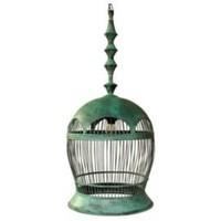 One Kings Lane - Noir - Bird Cage Copper Light Fixture