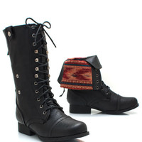 southwest-cuff-combat-boots BLACK NATURAL WHISKY - GoJane.com