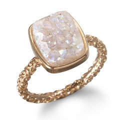 Nadia Stackable Druzy Ring, Halo by Dara Ettinger | Charm & Chain