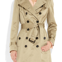 Burberry Prorsum | Mid-length cotton-sateen trench coat | NET-A-PORTER.COM
