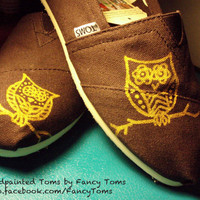 Hand Painted Custom Toms Shoes Owls by FancyToms on Etsy
