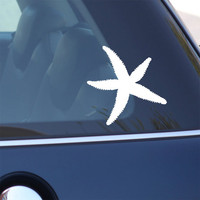 Starfish Decal - Vinyl Sticker - For Car, Window, Laptop, Wall , Star Fish