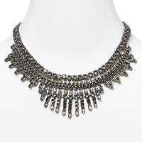 Cara Accessories Drama Drop Box Chain Necklace, 16"