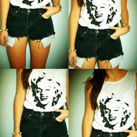 Hipster Marilyn Monroe Studded top / shirt