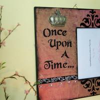 Once Upon A Time Fairy Tale Picture Frame, 5X7, Cottage Chic