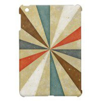 Sixties 5 Colors Swirl. Vintage Pattern iPad Mini Case