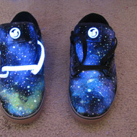 Galaxy Shoes // DVS // Glow in the Dark and Blacklight (UV Reactive) Mens &amp; Womes&#x27;s sizes :D