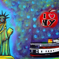 I Love NY Art Prints by Laura Barbosa - Shop Canvas and Framed Wall Art Prints at Imagekind.com