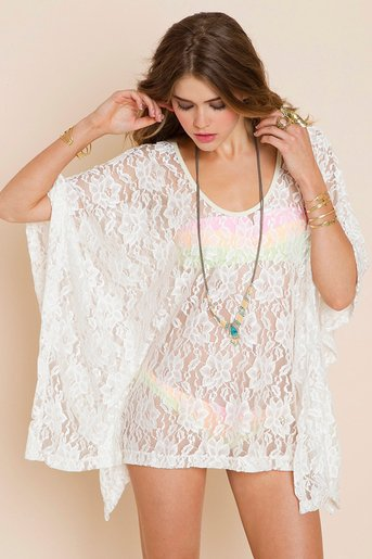 Lace Poncho in  Clothes at Nasty Gal