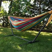 Amazon.com: Vivere UHSDO9 Double Hammock with Space-Saving Steel Stand: Patio, Lawn & Garden