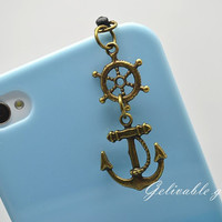 Pirate iPhone 5 4S 4 charm35mm dust proof plug by Gelivablegift