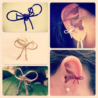Bow Ear Cuff, Choose your Color
