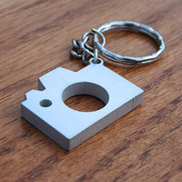 Camera - Metal Keychain