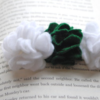 Perfect Posy Trio Felt Flower Headband Shown in by PosiesandPetals