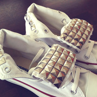 Studded Converse 'Chuck Taylor Hi' by DaydreamersApparel on Etsy
