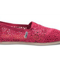 Fuchsia Crochet Women&#x27;s Classics | TOMS.com