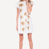 CLARISSA GRUNGE GIRL DRESS at Wildfox Couture in  - CLEAN BLACK, -CLEAN WHITE