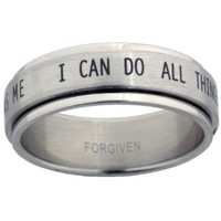 I Can Do All Things Stainless Steel Spinner Ring: Jewelry: Amazon.com
