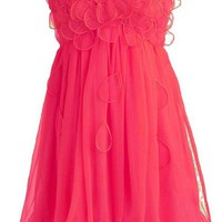 WowDresses — Attractive Floral A-line Scoop Neckline Mini Prom Dress