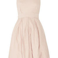 Preen Line|Cameron stretch cotton-drill and chiffon dress|NET-A-PORTER.COM