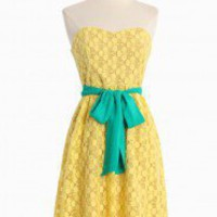 Sorbet Dessert Tube Dress In Lemon | Modern Vintage New Arrivals