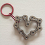 Heart Keychain 14 - Upcycled Bicycle Chain - Cycling Recycled Parts