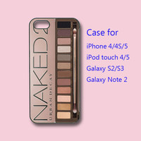iphone 5 Case,iPhone 4  case -- Eye Shadow set , in durable black or white plastic or silicone for both iphone 4 and iphone 5