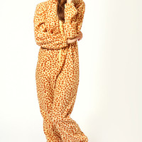 Julia Giraffe Print Hooded Onesuit