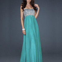 WowDresses  Beautiful A-line Scoop Neckline Floor Length Sequins Prom Dress