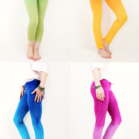Custom Hand Dyed Ombre Athletic Yoga Leggings Pants - Sizes XS-XL, Choose Length (Cropped, Normal or Long)