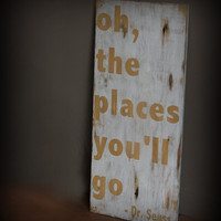 EXTRA LARGE Oh The Places You&#x27;ll Go Dr Seuss by MannMadeDesigns4