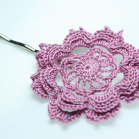Crochet Hair Pin in Lavender