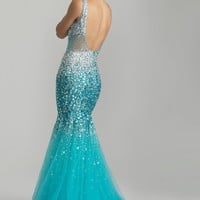 Night Moves 6750 Turquoise Mermaid Dress