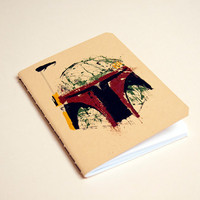 Star Wars notebook Boba by purplecactusdesign on Etsy