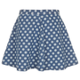 MOTO Spot Swing Denim Skirt - Skirts - Clothing - Topshop