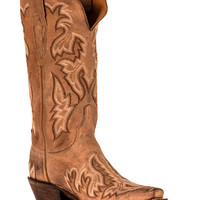 Lucchese Women's Tumbled Saffia Boot