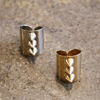 wrap ring with three spikes down its center, spiked ring, studded ring | shopcuffs.com