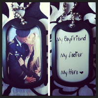 Custom Double Sided Photo Dog Tag-- Add a special quote or date