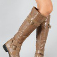 EL-050 Buckle Riding Knee High Boot