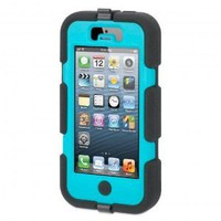 Griffin 605529-SFPB Survivor Case for iPhone 5 - 1 Pack - Retail Packaging - Black/Pool Blue