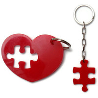 Product - Puzzle Heart Keychain Plexiglass Accessories,Lasercut Acrylic,Gifts Under 25 by bugga &amp;middot; Storenvy