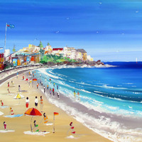 Bondi Beach  Original PaintingFREE SHIPPING by Borettoart on Etsy