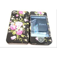 Amazon.com: Designer Retro Shabby Chic Vintage Chinese Black Iphone 4 4G 4S Case Full Cover Front and Back: Cell Phones &amp; Accessories