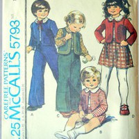 Toddler Pattern Suit Ensemble in Folk Style, McCalls 5793
